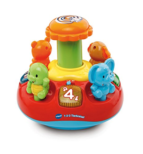 VTech Baby 80-186304-1-2-3Animaux toupie