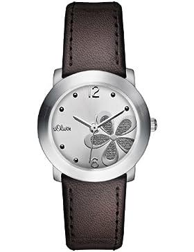 s.Oliver Damen-Armbanduhr Casual XS Analog Quarz Leder SO-2482-LQ