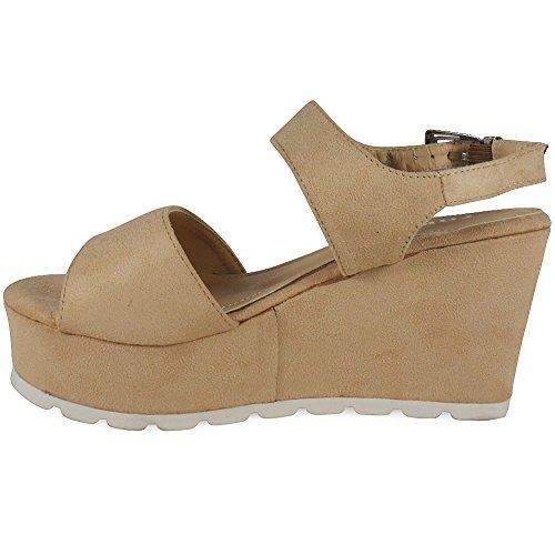 Loudlook Neue Damen Stiefel Frauen-Hals Lace Up Keil Schuhe Boots Gr??e 3-8 Brown