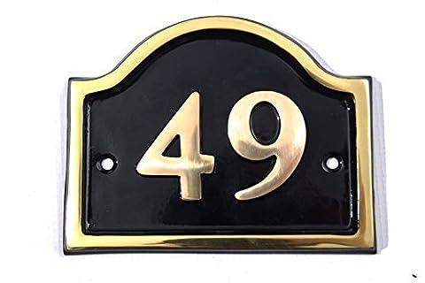 Brass Bridge House Number (Number 49)