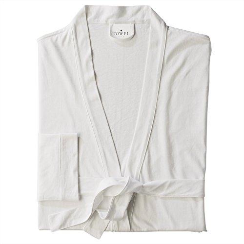 Towel City Womens Wrap Robe - White - S