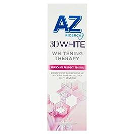 Dentifricio AZ 3D White Whitening Therapy Sbiancante Denti Sensibili, Sapore Di Menta– 75 ml