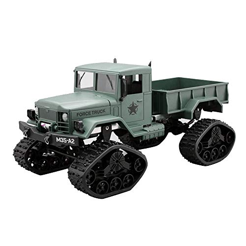 Jamicy® Fernsteuerungsauto, RC Military Truck Armee 1:16 4WD Kettenkarussell Crawler Off-Road Auto RTR Spielzeug (Grün) - 1 Auto Rc 15 Scale