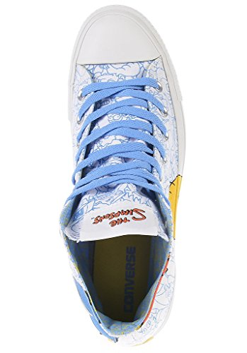 Converse Mandrini Hi Can Bianco 141391C AS Simpson Multi Bianco Blau