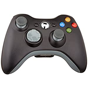 Althemax® drahtlose Spiel Joysticks Fernbedienung für Microsoft Xbox 360 Konsole – Schwarz