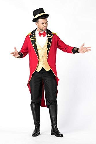 Kostüm Männlich Magier - Simmia Halloween Kostüm, Halloween Weibliche Magier Kostüm Zirkus Earl Tuxedo Cosplay, 8875 Mann, U