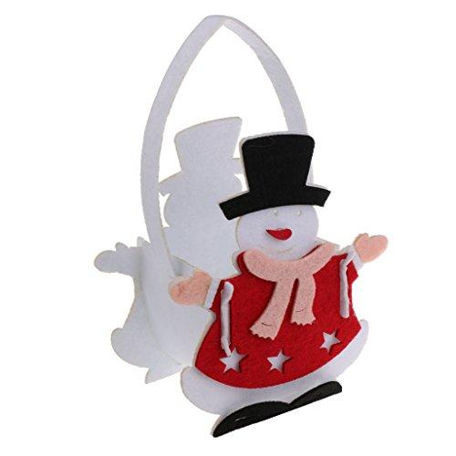 F fityle feltro pupazzo di neve natale regalo borsa porta mini cesto ornamenti rosso