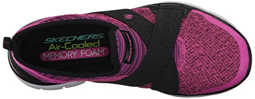 Skechers Flex Appeal 2.0 New Image, Baskets Basses Femme Hot Pink/Black