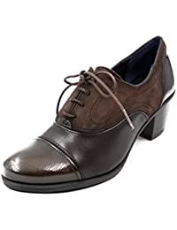 Zapato abotinado cordones Dorking-Fluchos - Disponible en colores burdeos y café - 6884 - 65 y 7254 - 81 (41, cafe)