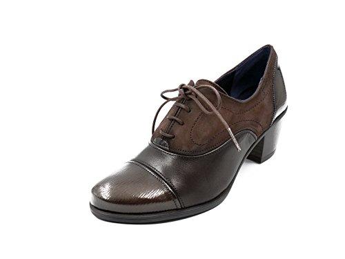 Zapato abotinado cordones Dorking-Fluchos - Disponible en colores burdeos y café - 6884 - 65 y 7254 - 81 (39, cafe)
