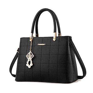 Nuovo pacchetto Ladies European elegante borsa a tracolla messenger bag PU borsetta 518,blu scuro Dark Blue