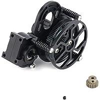 Bellaluee CNC Vollmetall Montiert Getriebegehäuse Getriebe Mit Metall Motor Getriebe für 1/10 Axial SCX10 AX10 RC Crawlers Auto