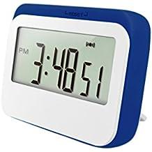 Sharplace Reloj Digital Recordatorio de Alarma LCD Contadores de Monitoreo Reptiles Humedad Medidor - Azul