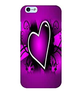 ColourCraft Lovely Heart Image Design Back Case Cover for APPLE IPHONE 6