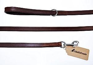 Schnüffelfreunde Laisse chien cuir - laisse en cuir marron pour chiens