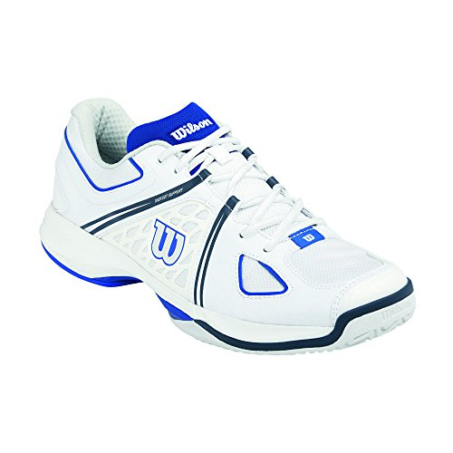 Wilson NVISION Herren Tennisschuhe Mehrfarbig (White / Blue Iris / Coal)