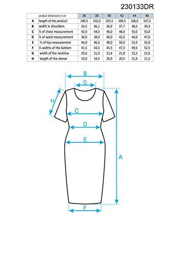 Ennywear 230133 Kleid Dame Musterlos Rundhals Kurzarm Midi EU Dunkelpink