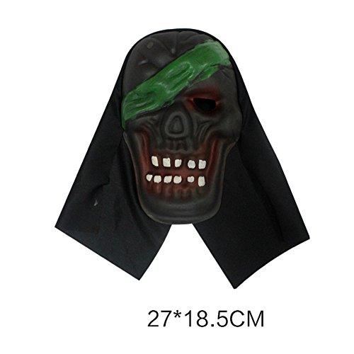 ration/Horror Maske Kopfbedeckung/Teufel-Schablonen-B (Lebensgroße Animierte Halloween Requisiten)