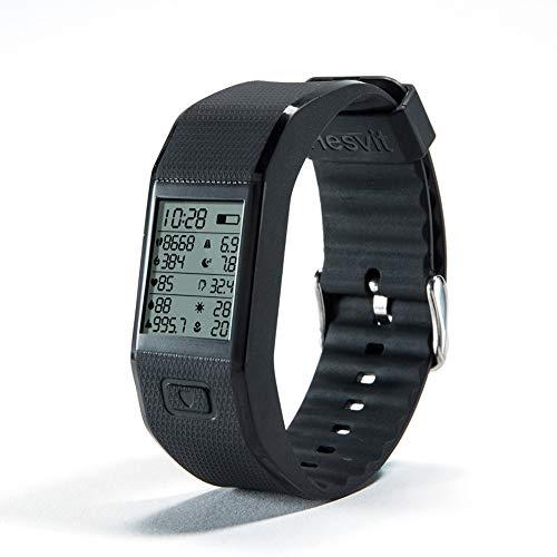 Bluetooth Smartwatch, Hesvit S3 Smart Uhr Bluetooth für IOS und Android Phone Intelligente Uhr (Schwarz)