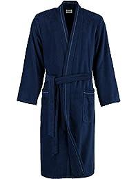 Cawö Herren Kimono-Bademantel 4511 | 133 navy - 50/52
