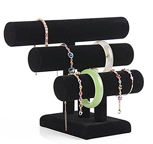 Meshela, supporto per gioielli e bracciali, di colore nero
