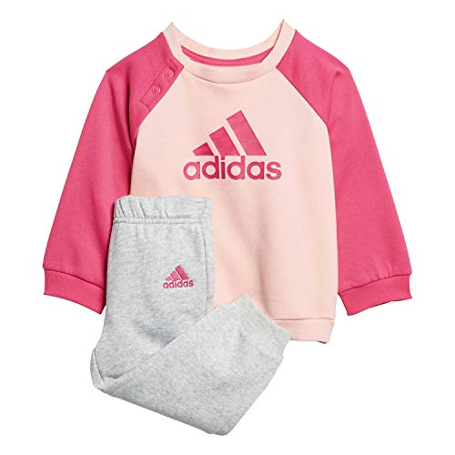 adidas Baby Logo Jogger Fleece Trainingsanzug, Haze Coral Magenta/Real Pink, 86
