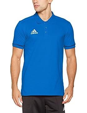 adidas Tiro17 Co Polo, Hombre, Azul (Maruni / Blanco), XL