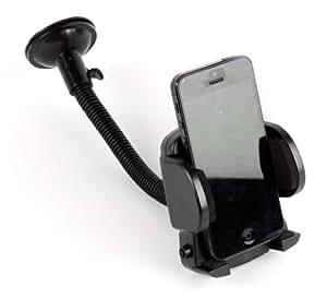 Support / fixation 2 en 1 pour Smartphone Wiko Cink Peax, Slim, Cink+ et King - pare-brise et bouche d'aération + rotatif à 360° portrait ou paysage