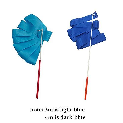 Dance Ribbons Streamers Rhythmic Gymnastics Ribbon Wands for Kids Artistic Dancing, Baton Twirling,
