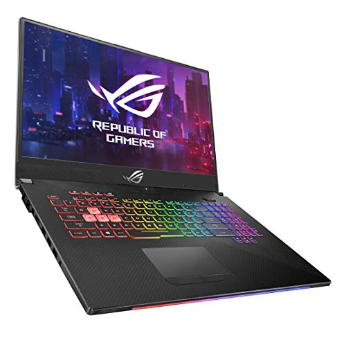 Asus ROG SCAR2-G715GV-EV083T PC Portable Gamer 17' (Intel Core i7-8750H, RAM 16Go DDR4, HDD1 To + 8Go SSHD Firecuda + 256Go PCIE, Nvidia RTX 2060 6Go Windows 10) Clavier AZERTY Français