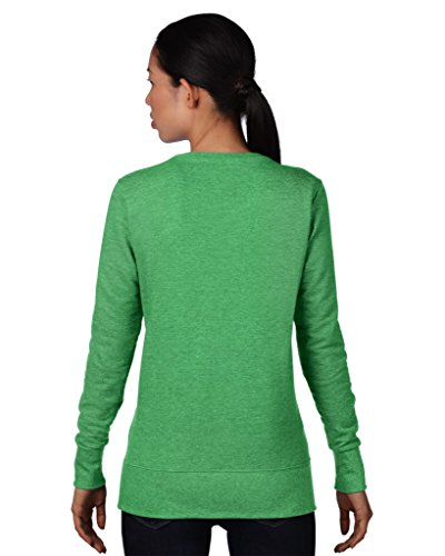 Anvil women ´ s 72000L french terry sweat-shirt Vert - Heather Green