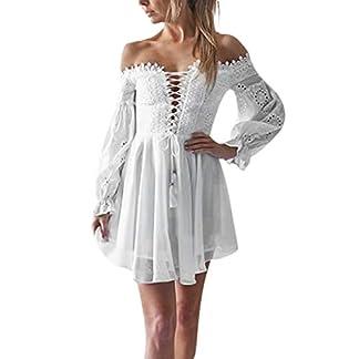 MEIbax-Damen-Sexy-Spitze-Schulterfreies-Kleider-Schne-Minikleid-Partykleider-kurz-A-Linie-Kleider-Strandkleid