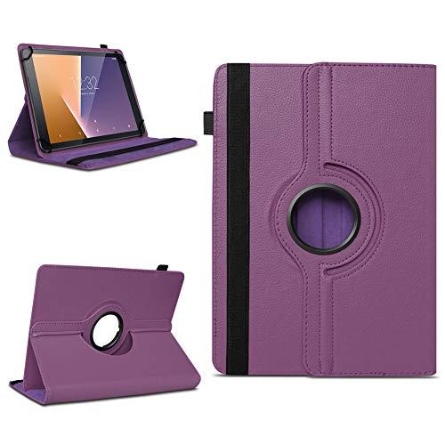 Tasche für Vodafone Tab Prime 7 Tablet Hülle Schutzhülle Case 360° Drehbar Cover, Farben:Lila