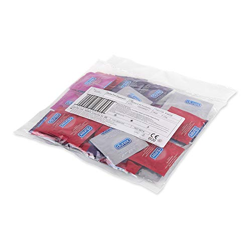 durex Durex Fun Explosion Kondome – Verschiedene Sorten für aufregende Vielfalt - Verhütung, die Spaß macht – 40er Großpackung (1 x 40 Stück)
