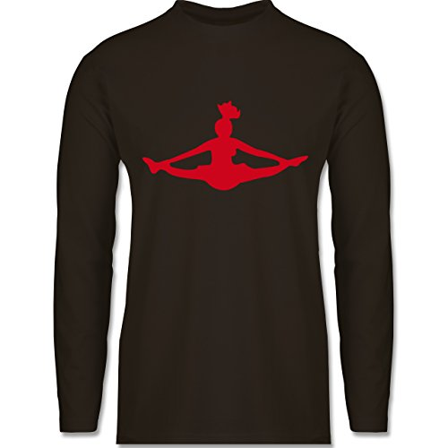 Shirtracer Tanzsport - Cheerleading - Herren Langarmshirt Braun