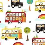 Rainbow Tier Stoff–Rainbow Animal Bus–von