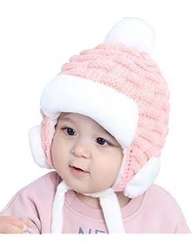 Superora Cappello Bambini Invernale Felpa Paraorecchie Berretto Infantile Inverno Palla di Felpa da Neonati