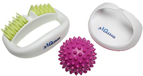Anti Cellulite Massage-Set, Massagebürste, Massageroller und Massageball gegen Orangenhaut, für straffe Haut, Beauty-Set