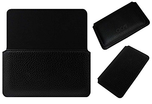 Acm Horizontal Case for Alcatel Pixi 4 6″ 4g Mobile Leather Cover Magnetic Closure Black
