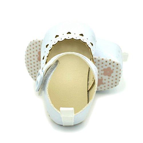 Igemy 1Paar Baby Mädchen Schuhe Fransen Soft Soled Non-Slip Schuhe Schuhe Hollow Love Schuhe Weiß