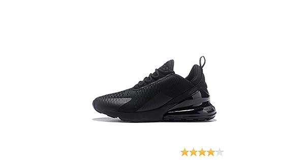 Saixu Air Max 270 Chaussures de Running Compétition Femme Homme Sneakers (36 EU, 1 Noir)