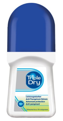 Triple Dry Anti-Transpirant Roll-On - Deoroller mit 72 Std Anti-Transpirant-Schutz - 1er Pack (1 x 50 ml)