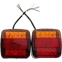 2 UNIDS LED Luz Trasera Luz de Freno Luz de Freno Luz de Freno Lámpara de Placa de Matrícula Para Camión Remolque Vehículo Recreativo