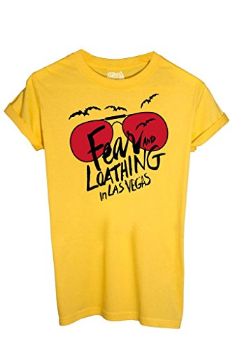 MUSH T-Shirt Fear And Loathing In Las Vegas - Film by Dress Your Style - Herren-L Gelb -