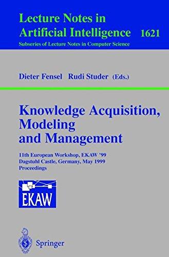 Knowledge Acquisition, Modeling and Management: 11th European Workshop, EKAW'99, Dagstuhl Castle, Germany, May 26-29, 1999, Proceedings par Dieter Fensel