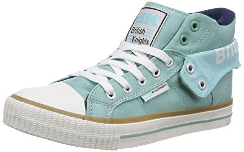 British Knights Roco, Damen Hohe Sneakers, Grün (Mint-Navy 22), 39 EU