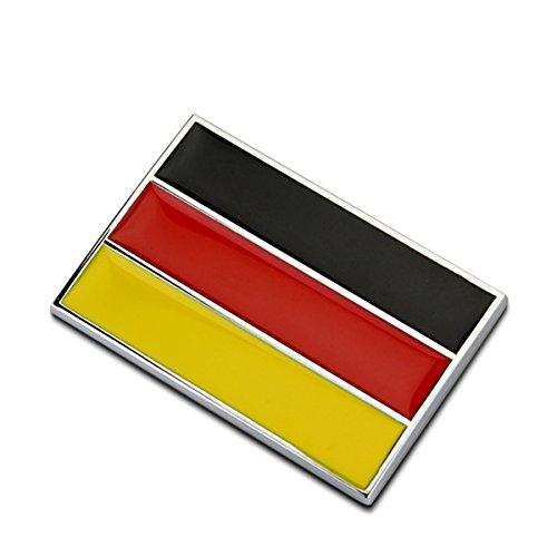 Dsycar 1 Stücke 3D Metall Deutschland Flagge Auto Seitenfender Kofferraum Emblem Abzeichen Aufkleber Auto Styling (Deutschland)