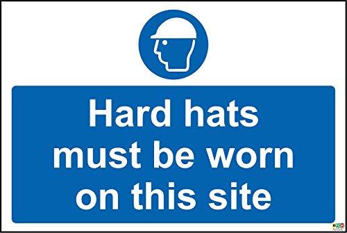 Baustelle Sicherheit Hard Mützen zu tragen, auf dieser Seite...