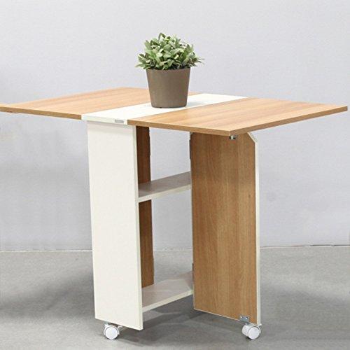 LVZAIXI Table de salle à manger pliante Home Table de salle à manger rectangulaire Table escamotable minimaliste moderne