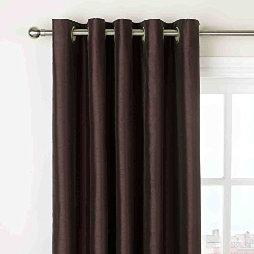 New Beautiful Stylish Curtains In Stunning Colours For Living Room & Bedroom (66″ width x 90″ drop, Chocolate)
